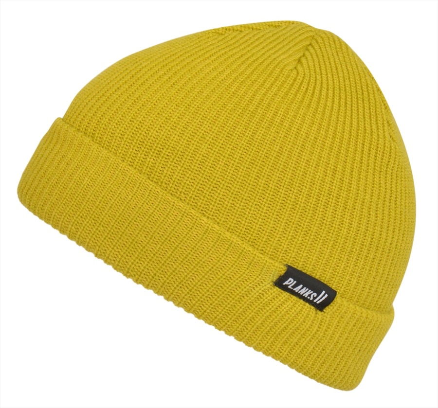 Planks Adult Unisex Essentials Knitted Beanie Hat, One Size Mellow Yellow