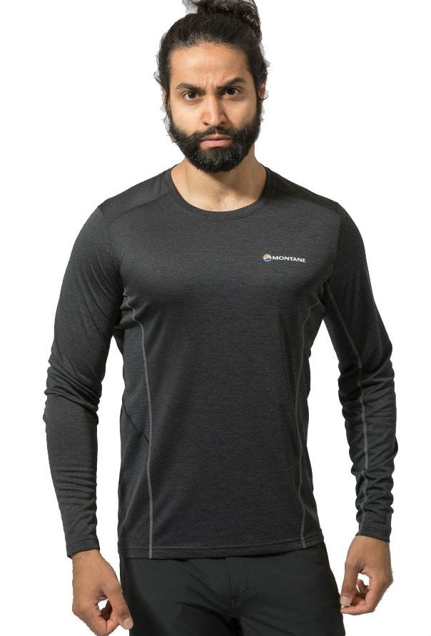 Montane Dart Technical Long Sleeve Base Layer Top, L Black