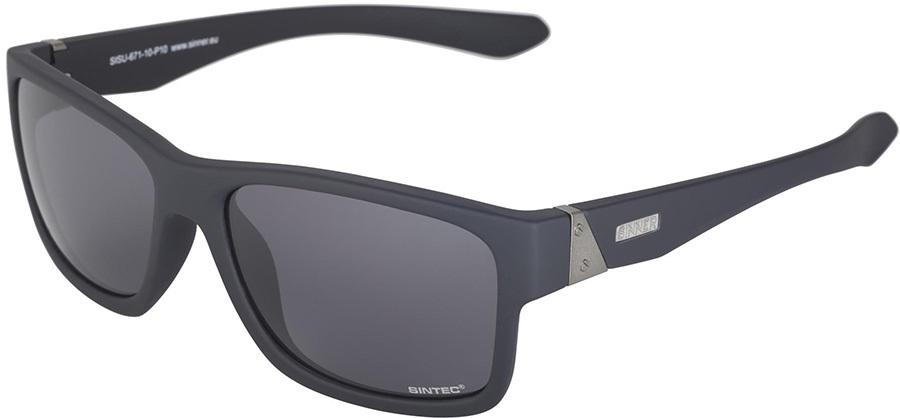 Sinner Sundown Sintec Winter/Summer Smoke Wayfarer Sunglasses M Black