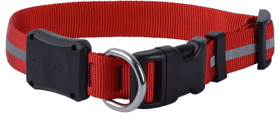 Nite Ize Nite Dawg LED Dog Collar Light Up Pet Collar S Red