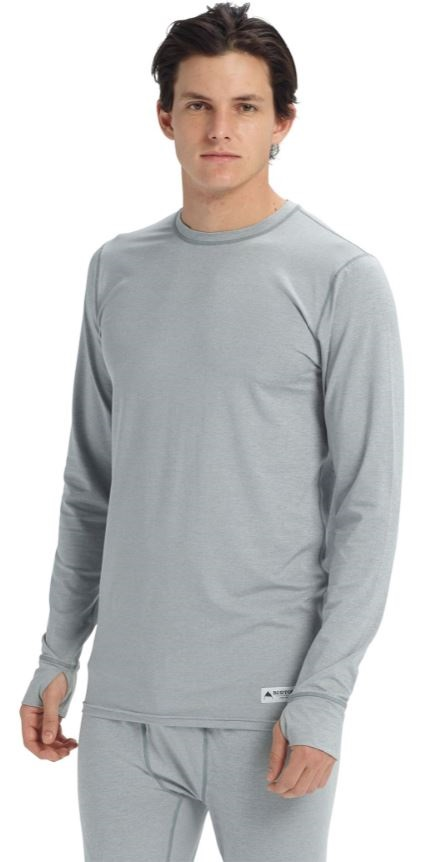 Burton Lightweight Crew LS Thermal Top, L Gray Heather 2021