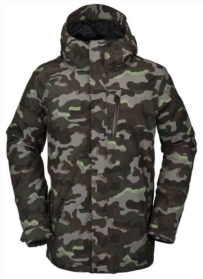Volcom L Insulated Gore-Tex Ski & Snowboard Jacket, L Army