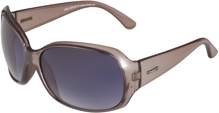 Sinner Amos Round Gradient Smoke Large Frame Sunglasses, Grey