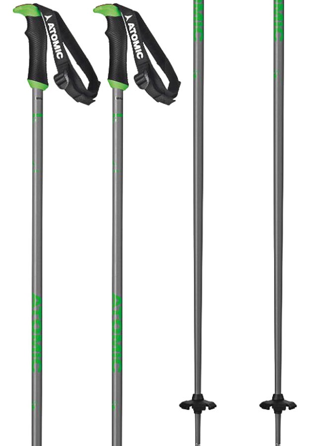 Atomic AMT SQS Ski Poles, 115cm Grey/Green