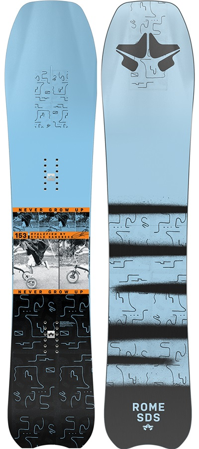 Rome Stale Fish Hybrid Camber Snowboard, 153cm 2021