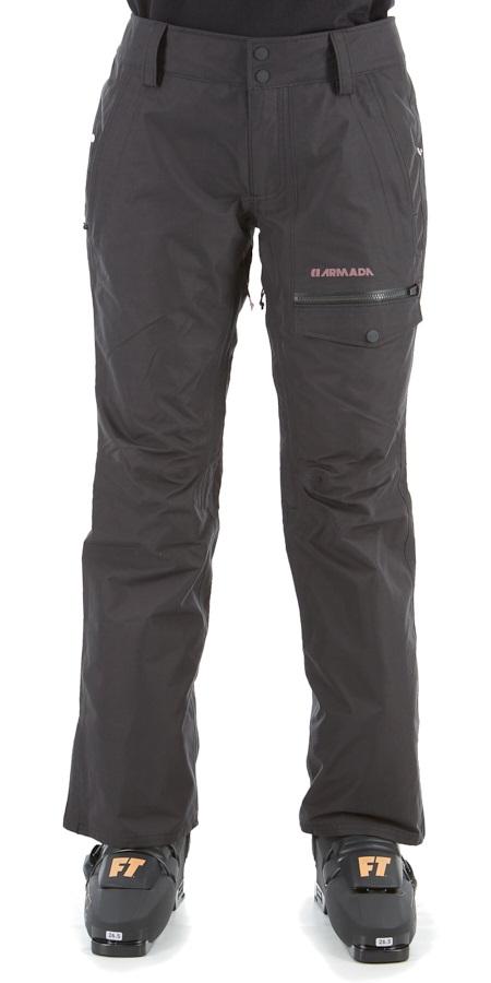 Armada Kiska Gore-Tex Insulated Womens Snowboarding/Ski Pants, L Black