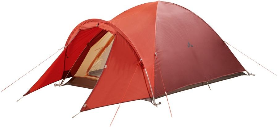 Vaude Campo Compact XT Lightweight Backpacking Tent, 2 Man Terracotta