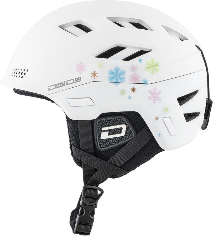 Dirty Dog Zodiak Ski/Snowboard Helmet, L Matte White