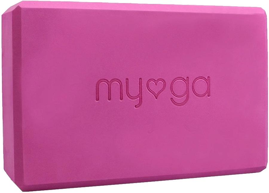 Myga Back To Basics Foam Yoga/Pilates Block, Plum