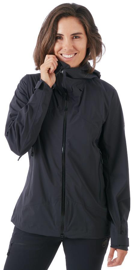 Mammut Adult Unisex Kento Hooded Hardshell Women's Waterproof Jacket, M Black