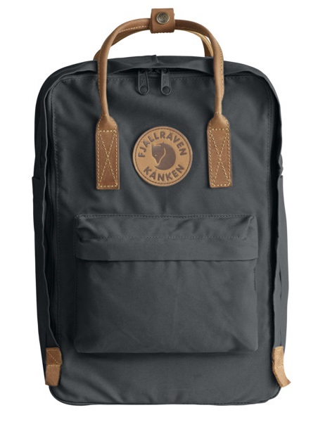 """Fjallraven Kanken No.2 Laptop 15"""" Backpack, 18L Super Grey"""