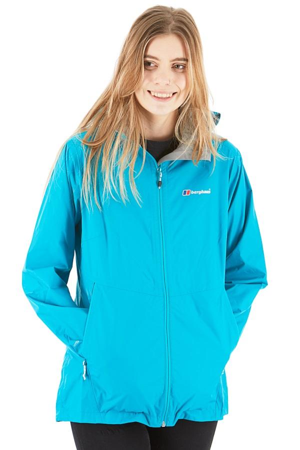 Berghaus Deluge Light Shell Women's Waterproof Jacket, UK 10 Turqouise