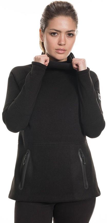686 Knit Tech Women's Fleece Hoody, S Black Melange