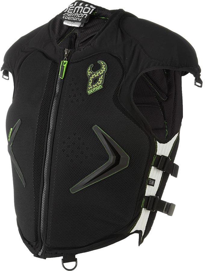 Demon Hyper XD3O Ski/Snowboard Body Armour Vest Top, M Black/Green