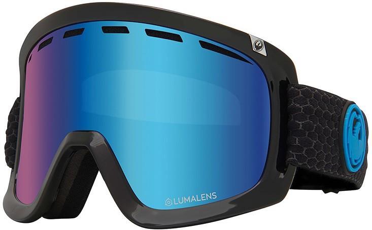 Dragon D1 OTG LumaLens Blue Ion Snowboard/Ski Goggles, L Split