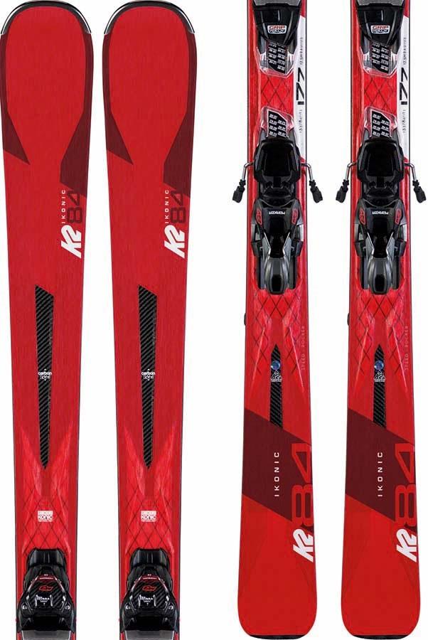 K2 IKonic 84 Marker M3 12 Skis, 177cm Black/Red 2020