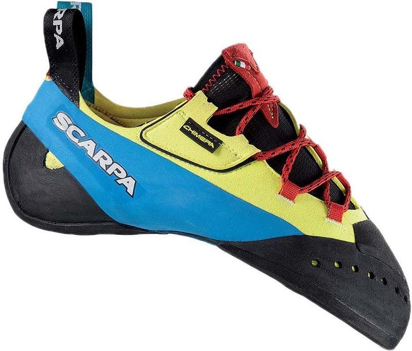 Scarpa Chimera Rock Climbing Shoe, UK 4 | EU 37 Yellow/Blue