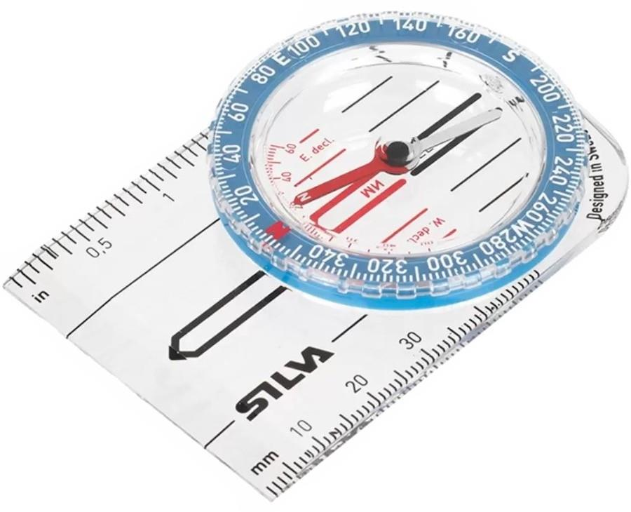 SILVA Starter 1-2-3 Compass Map Reading Navigation Aid, 360° White