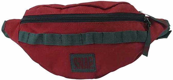 Snap Hip Bag, Travel Pack Bum Bag, 21 X 13 X 10 Cm, Burgundy