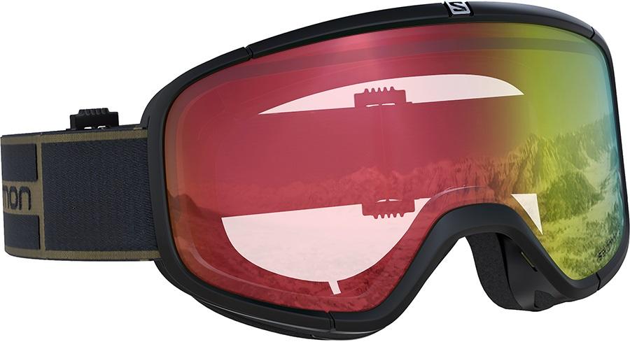 Salomon Four Seven Snowboard/Ski Goggles M/L, Black, Red Photochromic