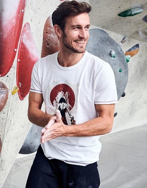Red Chili Adult Unisex Satori Climbing Short Sleeve T-Shirt, M White