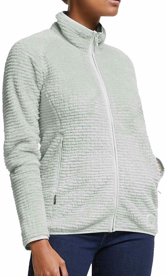 Haglofs Sensum Women's Full Zip Fleece Jacket, L Stone Grey