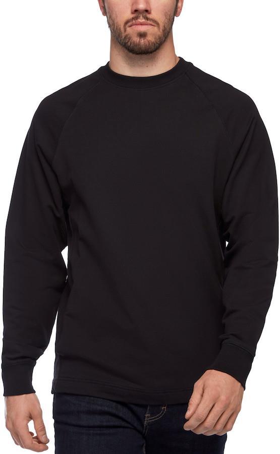Black Diamond Adult Unisex Ridge Logo Crew Men's Long Sleeve T-Shirt, M Black