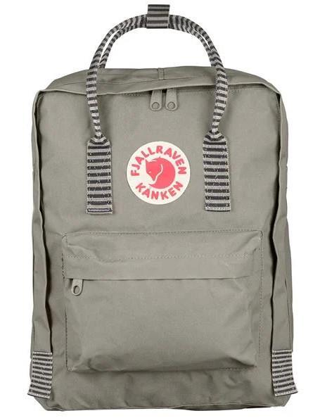 Fjallraven Kanken Backpack, 16L Super Grey/Chess Pattern