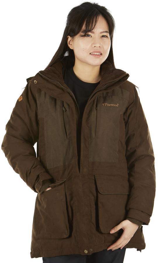 Pinewood Abisko 2.0 Women's Waterproof Jacket M Suede Brown