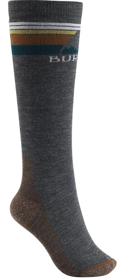 Burton Emblem Midweight Women's Ski/Snowboard Socks, S/M True Black