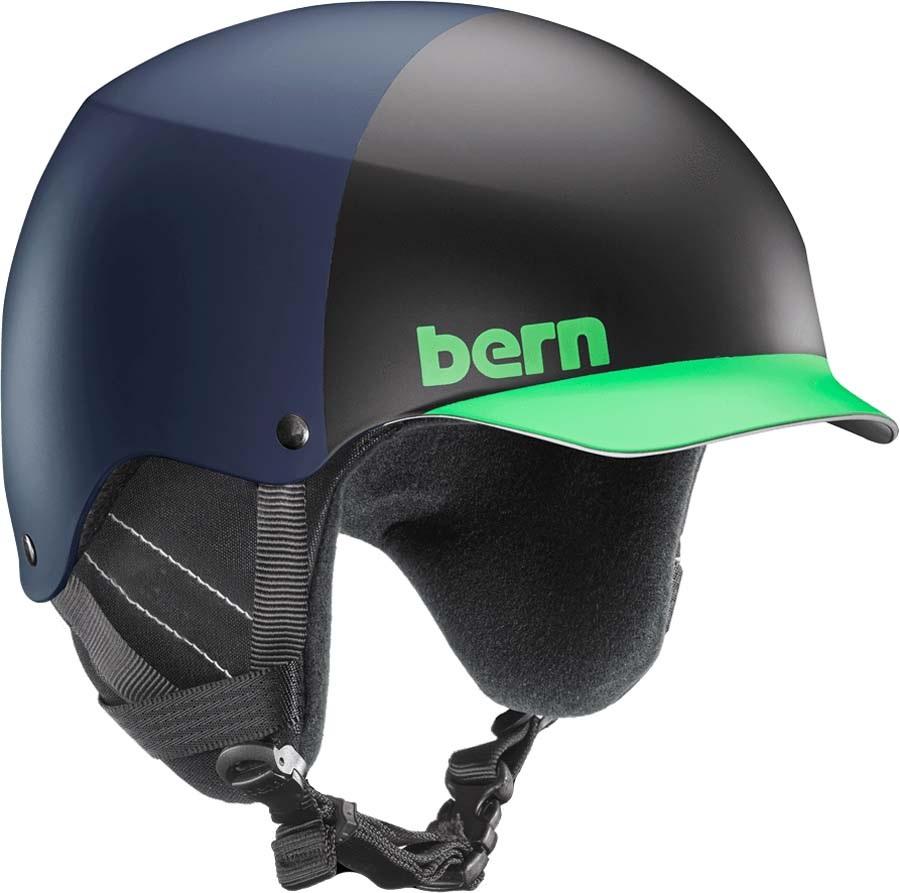 Bern Baker EPS Winter Snowboard/Ski Helmet, S Matte Blue Hatstyle
