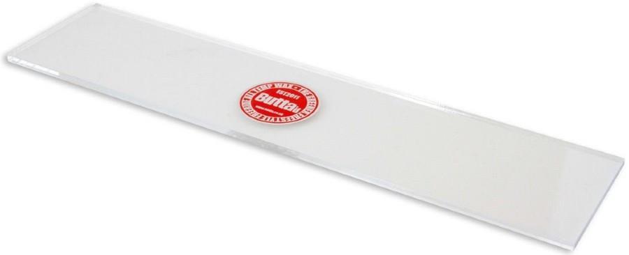 Butta Clear Plastic Snowboard Wax Scraper, Large Clear