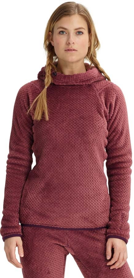 Burton Women's [ak] Turbine Pullover Fleece Hoodie, M Rose Brown