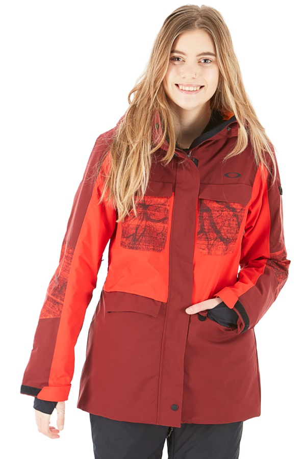 Oakley Moonshine 2.0 Women's Snowboard/Ski Jacket, L Oxblood Red
