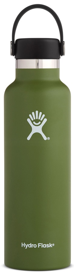 Hydro Flask 21oz Standard Mouth With Flex Cap Water Bottle, Olive