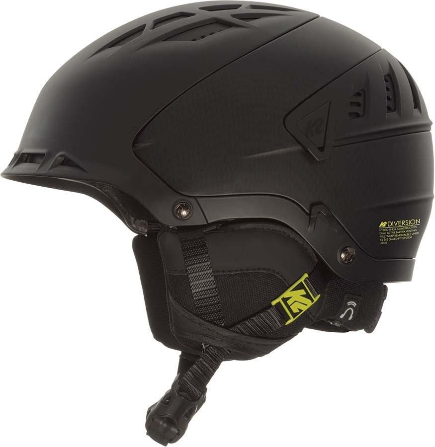 K2 Virtue Women's Snow/Bike Helmet, S Black