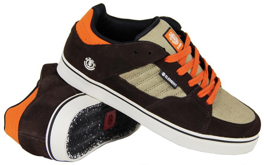 Element GLT 2 Skate Shoe, UK 9, Brown