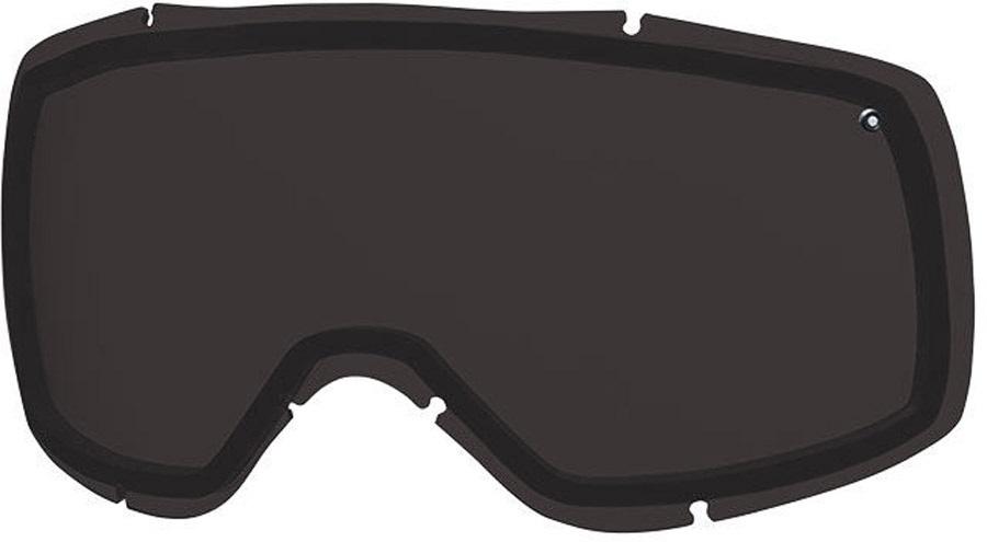 Smith Showcase Snowboard/Ski Goggle Spare Lens, One Size, Blackout