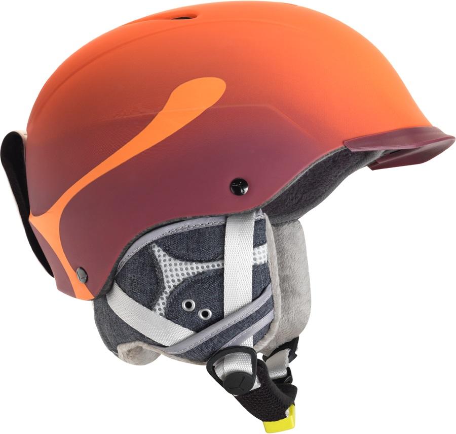 Cebe Contest Visor Pro Ski/Snowboard Helmet, M, Orange