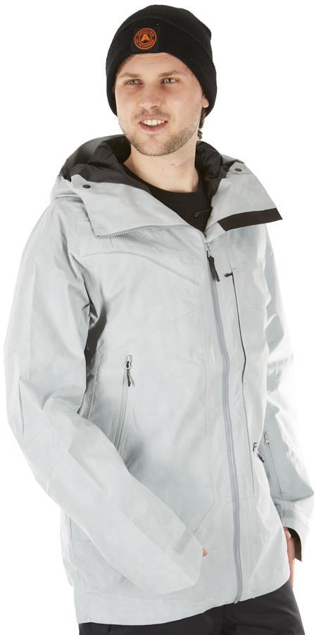 FW Manifest 2L Ski/Snowboard Zip Up Jacket, M Light Stone