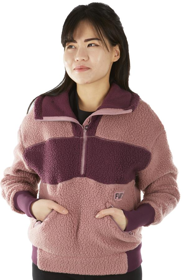 FW Root Pillow Women's Pullover Midlayer Fleece, S Pastel Canyon