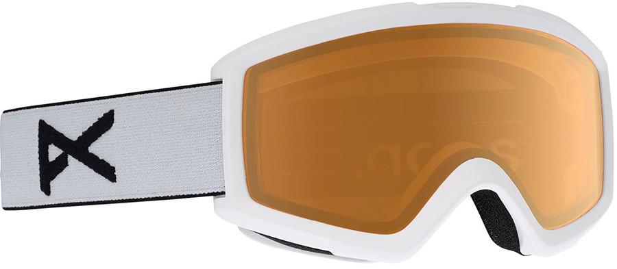 Anon Helix 2.0 Amber Ski/Snowboard Goggles S/M White
