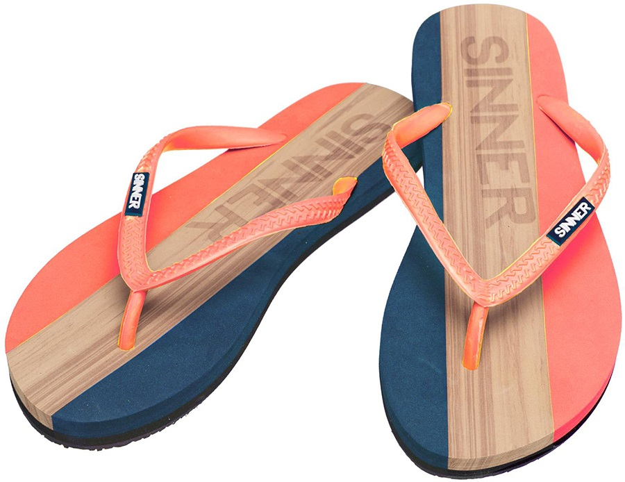 Sinner Capitola Women's Flip Flops, UK 3.5 / EU 36 Coral/Light Brown