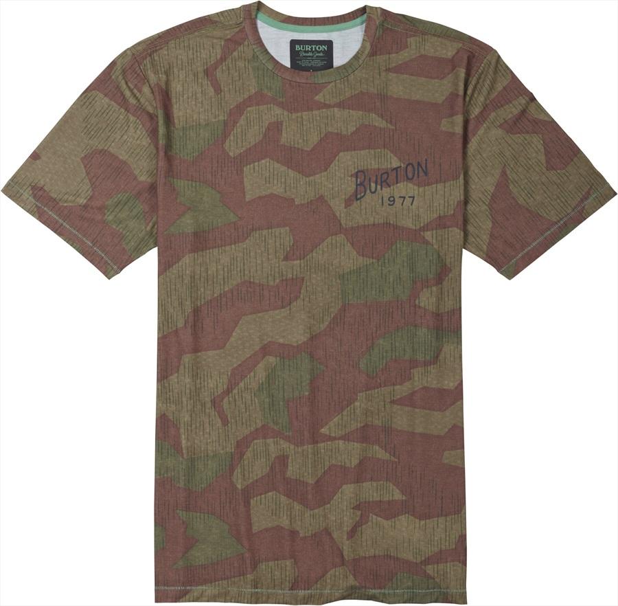 Burton Ridge View Short Sleeve T Shirt S Splinter Camo