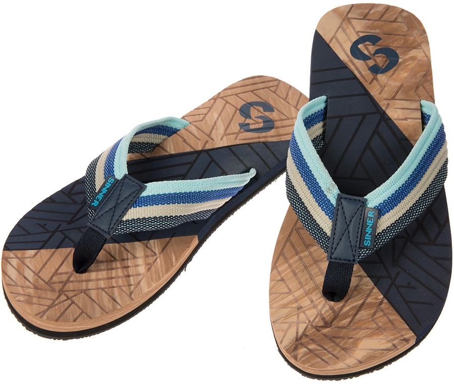 Sinner Manado Men's Flip Flops, UK 7.5 / EU 41 Blue/Light Brown