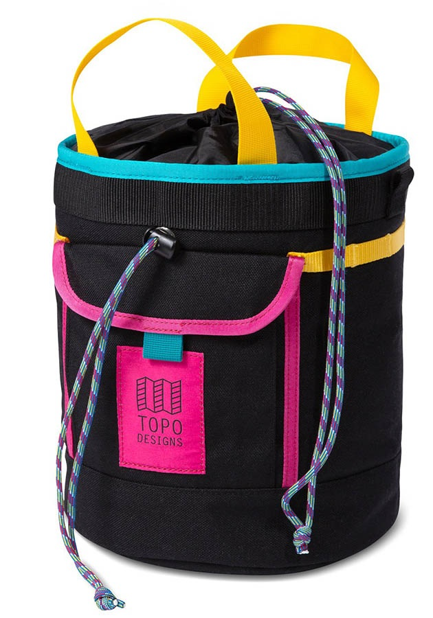 Topo Designs Hipster Rock Climbing Chalk Bucket, One Size Black/Black