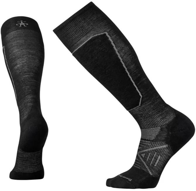Smartwool PHD Ski Light Elite Ski Socks, S Black