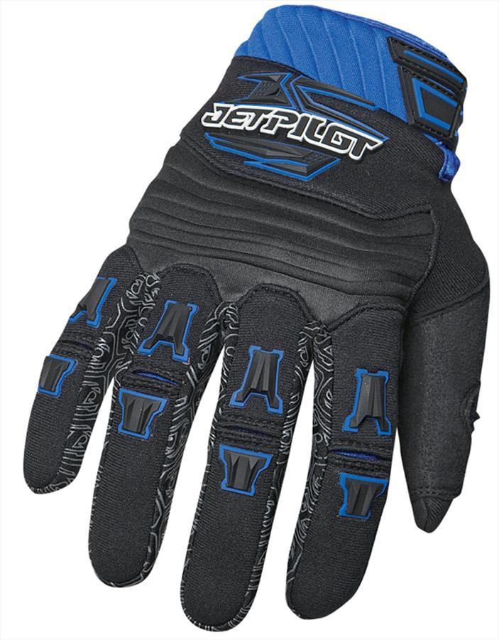 JetPilot Race Jet Ski PWC Gloves S Black Blue