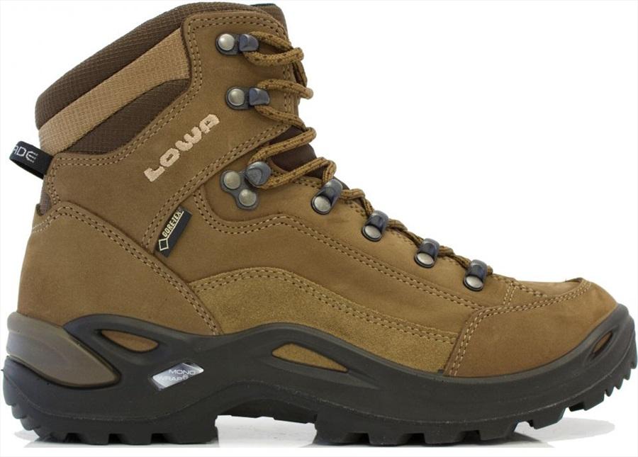 Lowa Renegade Gore-Tex Mid Women's Hiking Boots, UK 5 Taupe