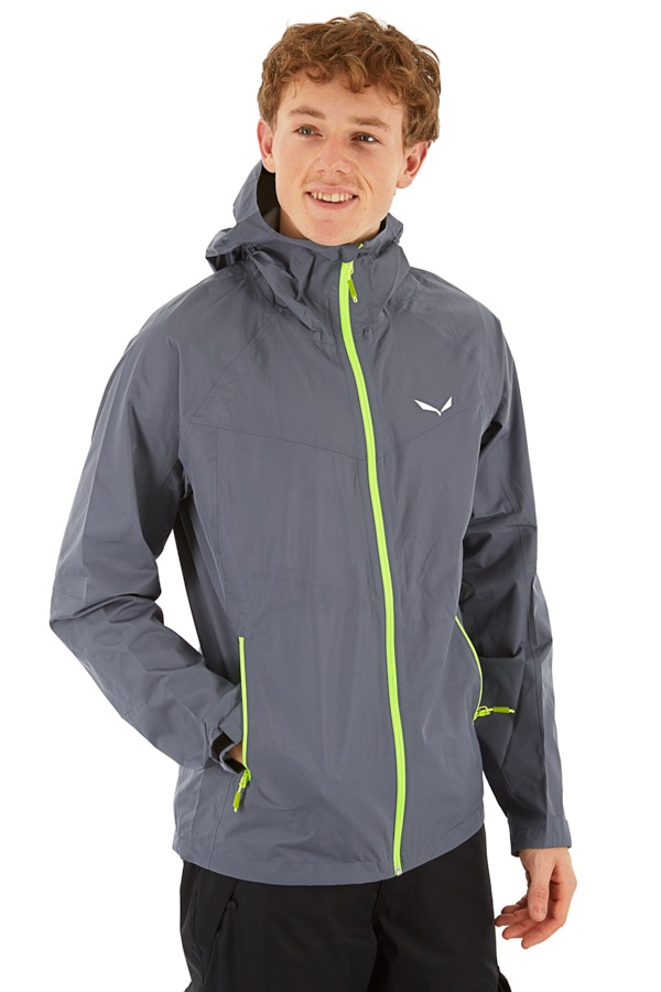 Salewa Puez PTX Men's Powertex 2.5L Jacket, XL Grey